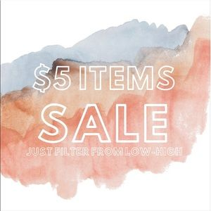 many $5 items! filter low to high